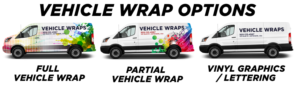 Coupland Vehicle Wraps vehicle wrap options